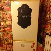 Fridge Sticker Wholesale Vinyl Wall Decals Chalkboard Sticker, Chalk board Wall Stickers Kitchen Home Decor With Free Shipping