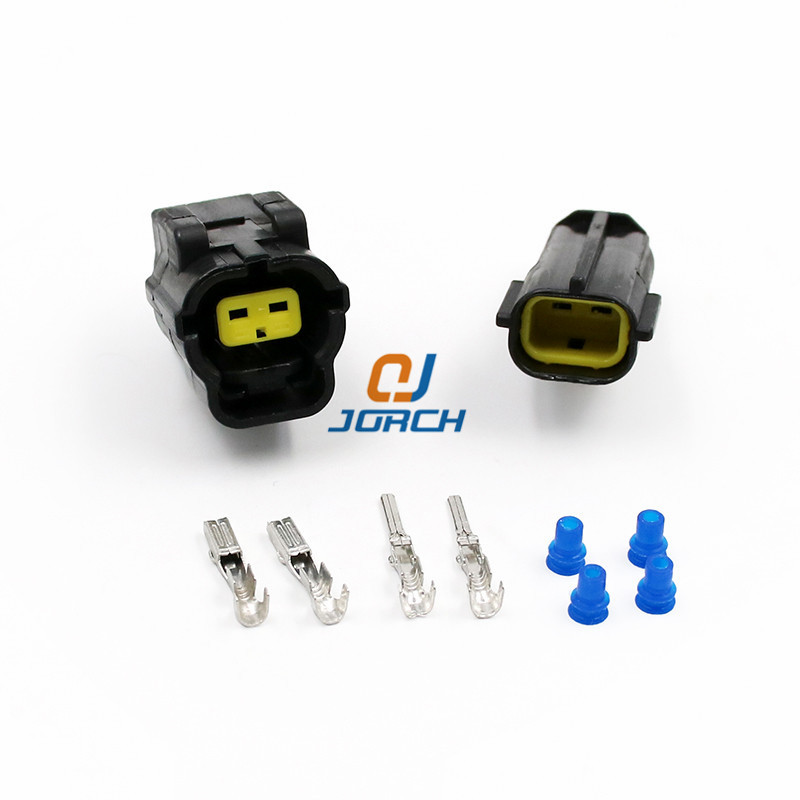 10 Set 2 Pin Female Male Waterproof Wire Connector Plug Car Auto Sealed Car Truck Denso Connectors 174354-2 174352-2