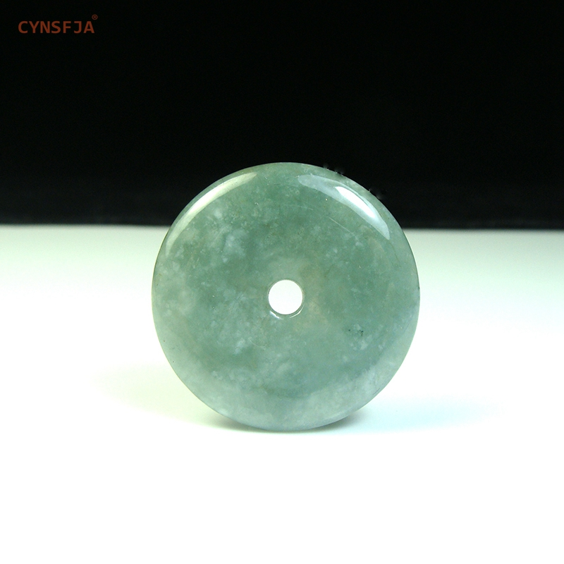 Certified Natural A Grade Burmese Jadeite Emerald Charms Lucky Peace Buckle Jade Pendant Ice Green High Quality Birthday GiftsCertified Natural A Grade Burmese Jadeite Emerald Charms Lucky Peace Buckle Jade Pendant Ice Green High Quality Birthday Gifts