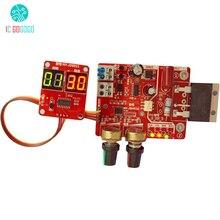 100A kontroler czasu i prądu Panel sterowania zgrzewanie punktowe urządzenie do regulacji czasu moduł prądu LED cyfrowy wyświetlacz