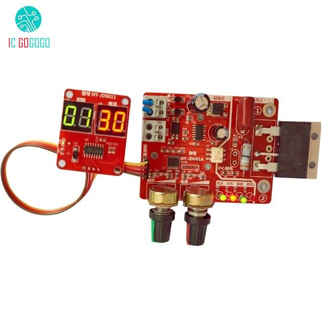 100A temps et contrôleur de courant panneau de commande Machine de soudage par points ajuster le Module de courant de synchronisation LED affichage numérique