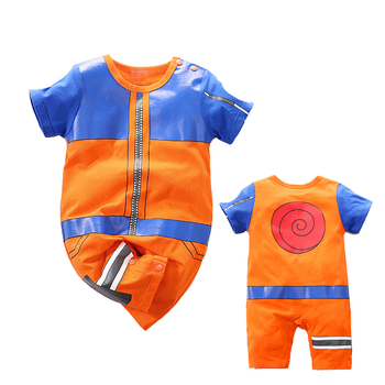 Yierying Baby Clothes Newborn Baby Rompers 100% Cotton Naruto Style Cospaly Jumpsuits Baby Lovely Short Sleeve Cartoon Clothing yierying baby clothing autumn and winter baby rompers long sleeves cotton hooded infant clothes cartoon newborn jumpsuits