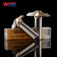 Weitol 2 Pcs 12 7 Mm Rosewood Cutting Tools CNC Carbide Tip Slotting Bits CNC Engraving