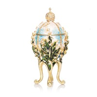 FLETCHER Brand Metal Exqusite Faberge Egg for Jewelry Box