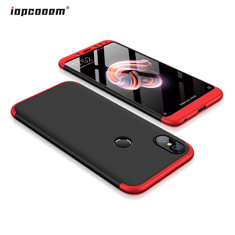 Xiaomi redmi note 5 case redmi note 5 pro prime case back iopcooem luxury hard protection 360 full cover redmi note 5 case