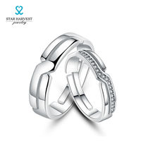 STAR HARVEST Lovers Ring A Pair Of Men And Women 925 Silver Openings Follow