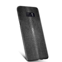 New For Samsung Galaxy S8 S8 Plus Luxury Real Natural Water Stingray Pearl Fish Skin Genuine