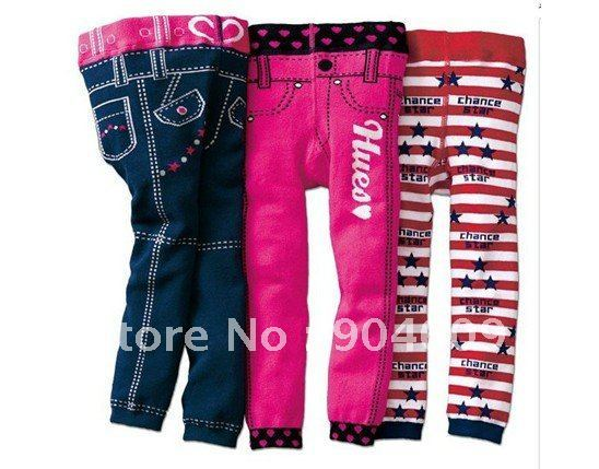 Wholesale - -2011 baby of qiu dong the cotton yarn nine points of pants-LTT38