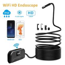 2.0 MP Wireless Endoscope WiFi Inspection Camera Semi-Rigid Flexible Snake Camera Waterproof for phone repair Pipeline inspect