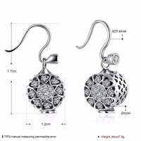HOT Clover 925 Sterling Silver Wholesale Charm Women Fashion Jewelry Crystal From Swarovski Woman Name Earrings