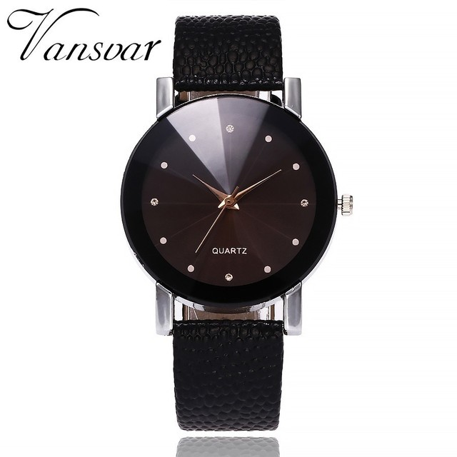 Vansvar Women Watch Luxury Brand Casual Simple Quartz Clock For Women Leather Strap Wrist Watch Reloj Mujer Drop Shipping  1