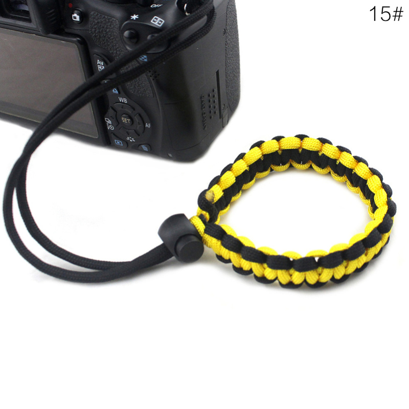 Ремешок на запястье для цифровой камеры 1 шт., 19 стилей, парашютный трос ручной работы для камер Nikon, Canon, Sony, Pentax