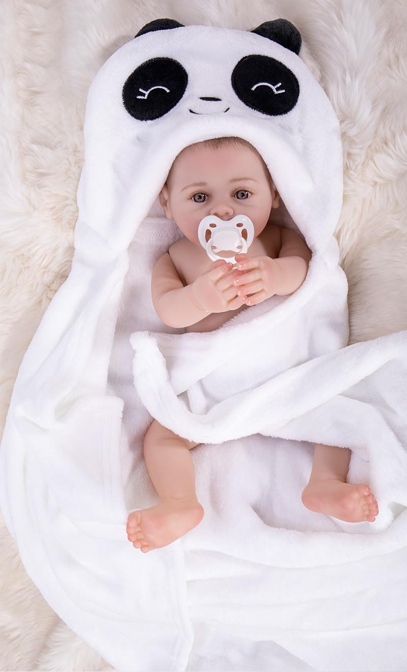 43cm Silicone reborn baby doll toy like real 17inch soft body newborn babies doll Bebes reborn girls bonecas birthday gift