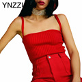 YNZZU six colors 2016 Women Knitted Sexy Sleeveless Stretch Casual Brand Cropped Tank Camis Tops Femininas YT039