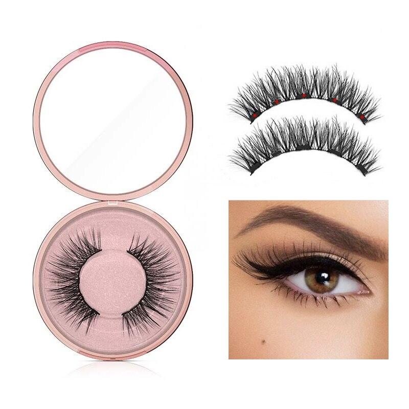 New Magnetic Liquid Eyeliner & 5 Magnet Magnetic False Eyelashes & Tweezer Set Waterproof Long Lasting Eyeliner False Eyelashes 3