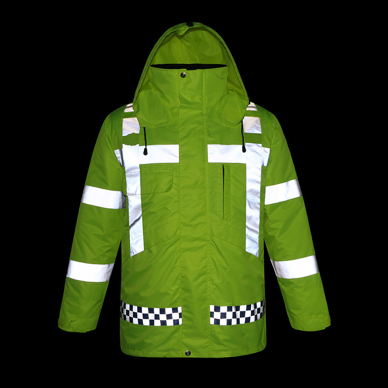 EN471 High visibility workwear yellow winter safety jacket reflective with pockets все цены