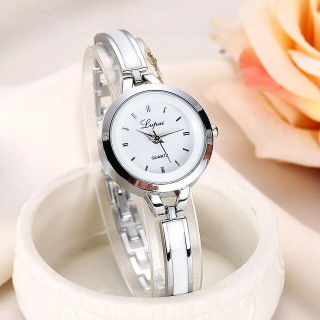 Women Watches Luxury Rose Gold Silver Bracelet Wristwatch Ladies Alloy Simple Casual Quartz