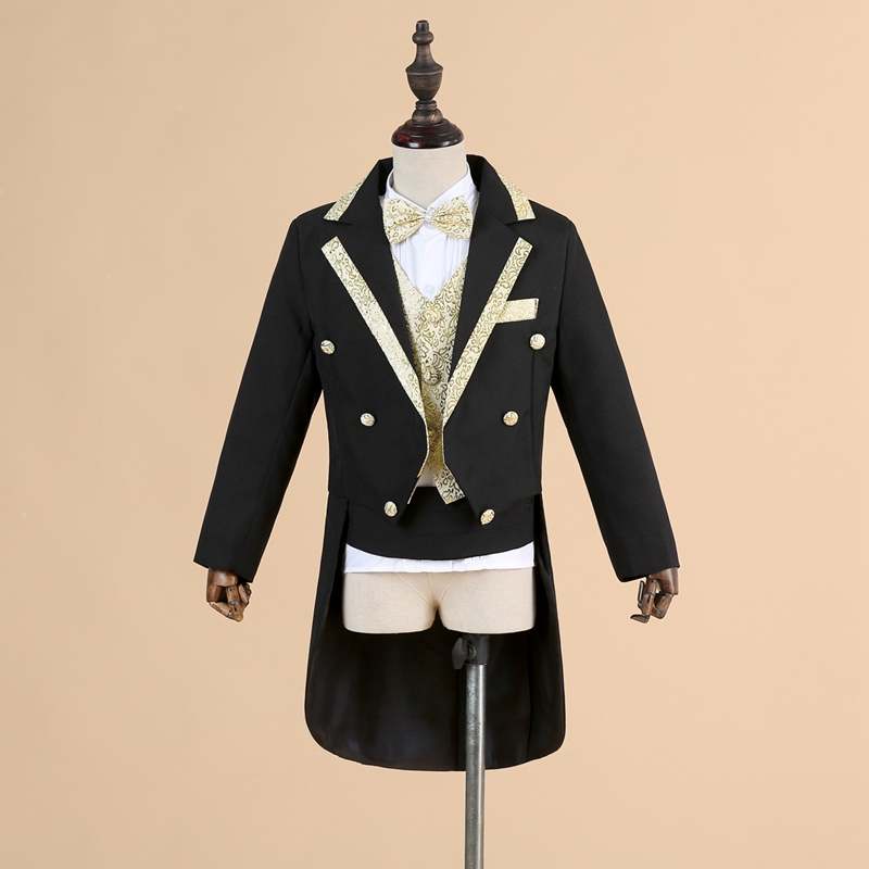 все цены на 2018new spring autumn fashion white/balck baby boys suit kids blazers boy suit for weddings prom formal wedding dress boy suits онлайн