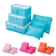NIIFAWH Clothing Storage folding Bag Organizer Shoes eco-friendly Three-Dimensional Type storage Six-piece set