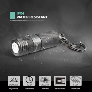 Image 3 - NICRON Mini LED Flashlight Keychain 3W USB Rechargeable Compact Lamp Torch Light Waterproof 3 Modes For Household Outdoor etc