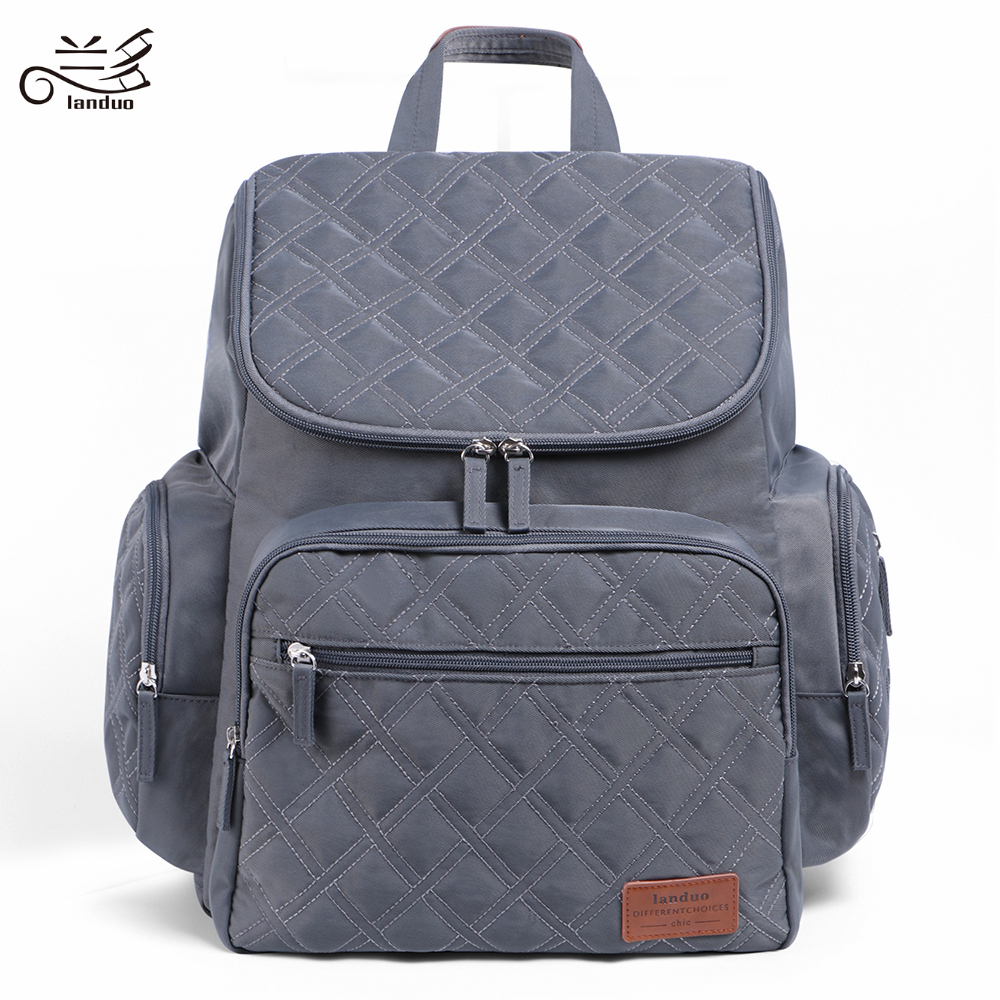 LAND Mommy Diaper Bags Mother Large Capacity Travel Nappy Backpacks with changing mat Convenient Baby Nursing Innrech Market.com