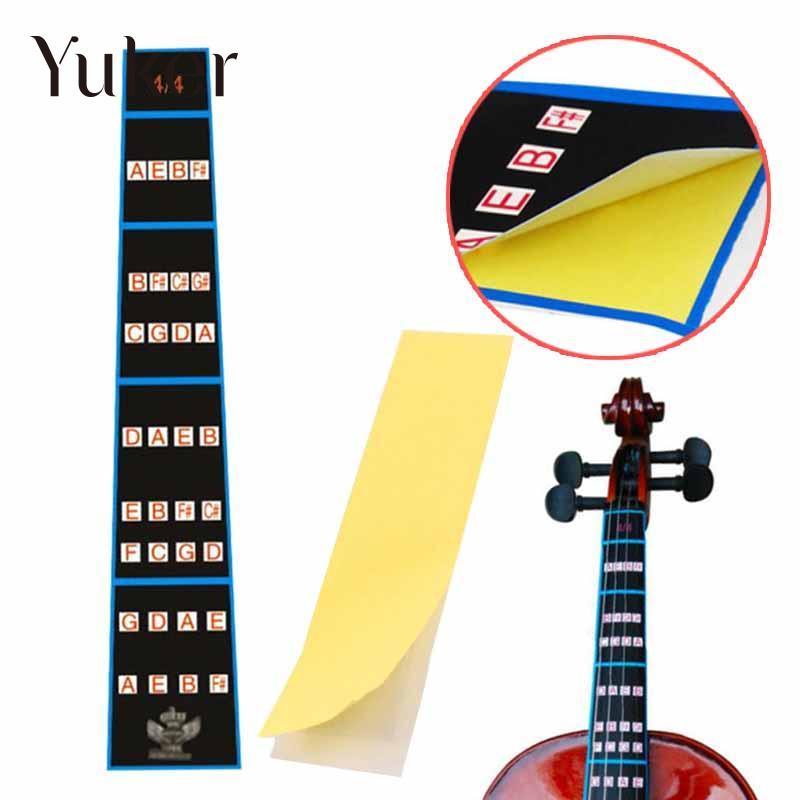Yuker Violin Fiddle Position Marker Tape Violin Sticker Fretboard bande Finger Marker