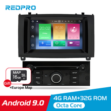 Android 9.0 9.1 Car DVD  Radio Player For Peugeot 407 2004-2010 GPS Navigation WIFI Bluetooth Video Stereo Player Car Multimedia