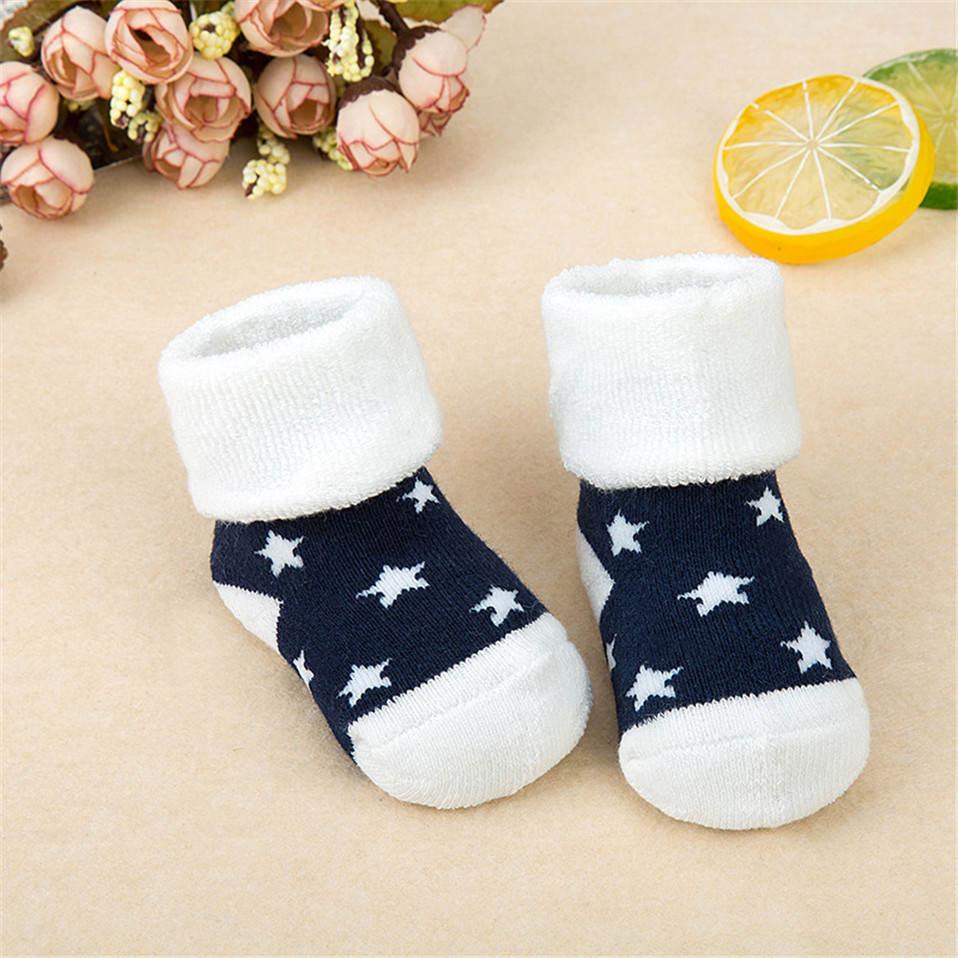 Cotton Baby Socks Spring Winter Thicken Warm Newborn Baby Boy Girl Socks Sokken Infant Kids Floor Sock Calcetines