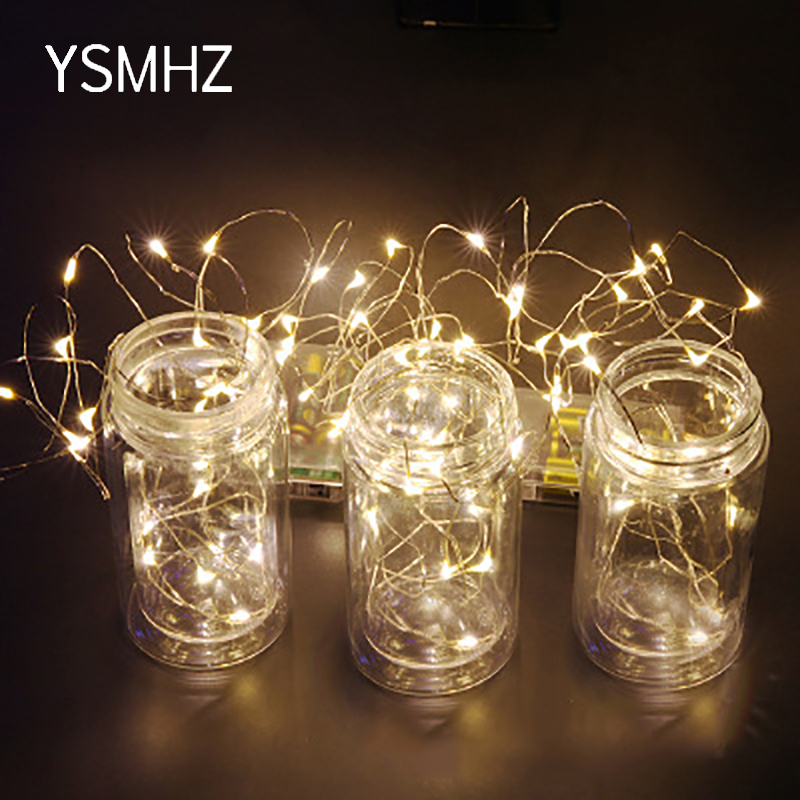 YSMHZ LED Holiday Lamp String Christmas Decor Light Colorful Creative Lamp 10M Fairy String Lights For Garden Bedroom Living