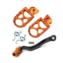 Шестерни переключения ножной рычаг складной наконечник подножки для ног Сзади наборы для ухода за кожей ног набор педалей для KTM 125 200 SX EXC 250 350 450 505 SX-F 150 SX
