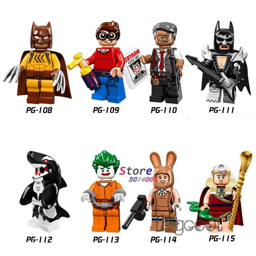 1 Buah Model Blok Bangunan Superhero Catman Batman Dick Grayson Orca Joker Maret Harriet Raja Tut Mainan untuk Anak-anak Hadiah