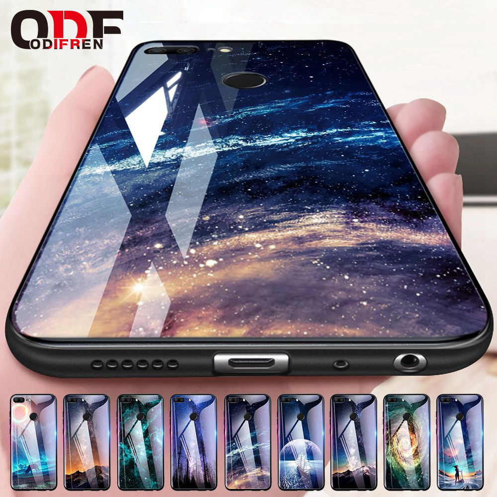 Odifren Space Case on for Huawei Honor 9 Lite 10 Case Cover Mate 10 Lite Glass Coque Phone Case for Huawei P20 Lite Pro P Smart