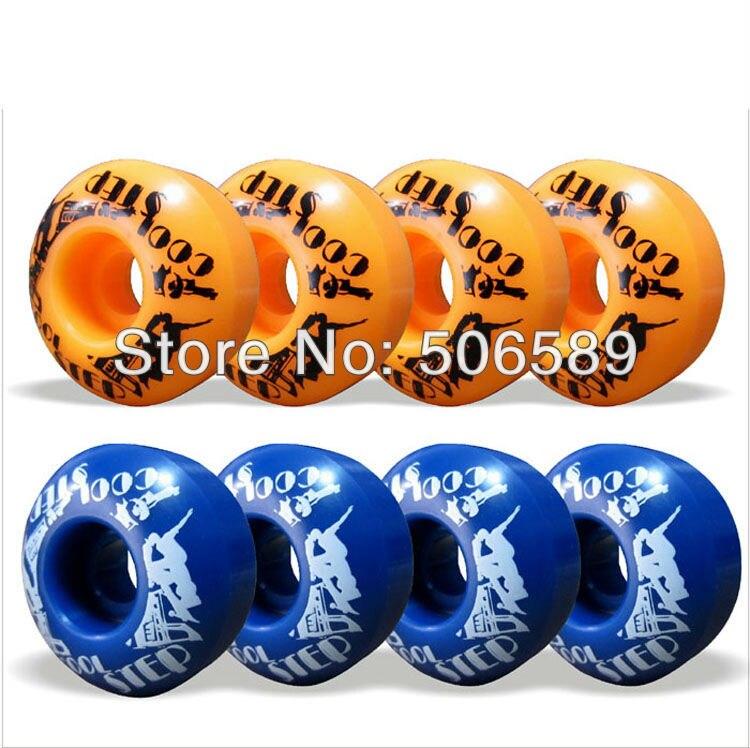 Free Shipping Skateboard Wheels PU 100A 4 Pcs/set 52*30mm Orange Available