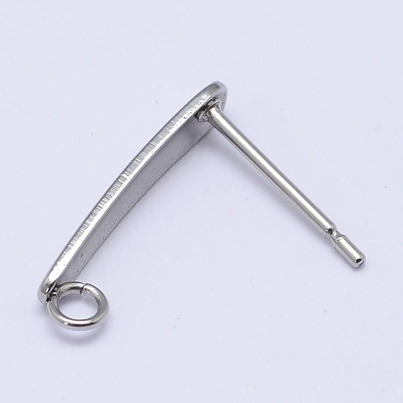 Stainless steel earstud components