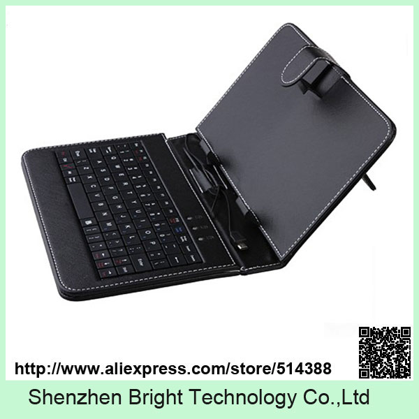 NEW HOT Selling 7 inch Universal Leather Case Cover with Micro USB Keyboard For Tablet PC universal wired usb keyboard for windows xp window 7 and above androids 3 0 and above keyboard skin cover new arrival