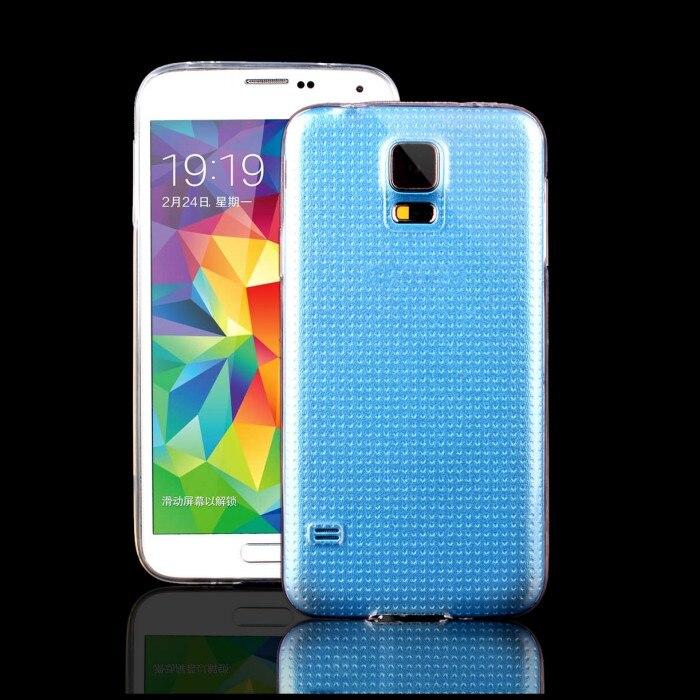 Para samsung galaxy s5 cubierta casos claros smartphone accesorio del teléfono m