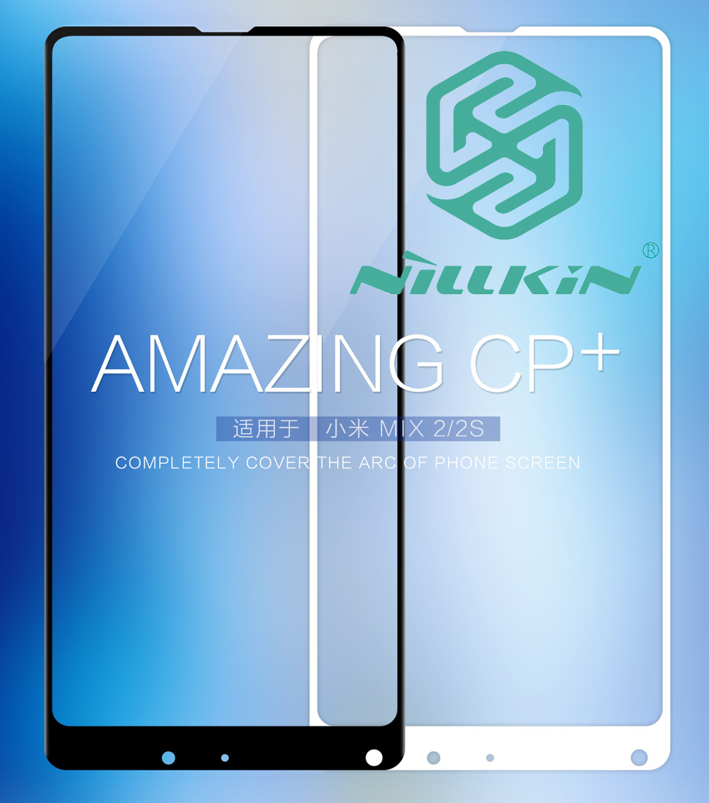 Nillkin CP+ Tempered Glass For Xiaomi Mi MIX 2S Full Screen Cover Protective oleophobic Full panel glue