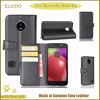 KLAIDO Genuine Leather Mobile Phone Case For Motorola Moto E4 Flip Case For Motorola Moto E4