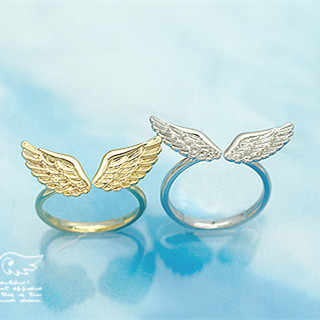 Wholesale Adjustable Angel Wings Ring Gold Silver Color Rings for Women Fashion Jewelry Gifts