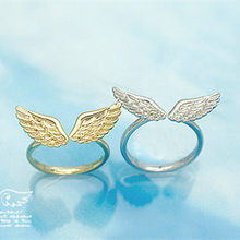 Wholesale Adjustable Angel Wings Ring Gold Silver Color Rings for Women Fashion Jewelry Gifts(China)
