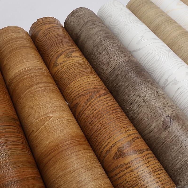 Mobiliário prático decoração diy pvc auto adesivo papel de parede de madeira adesivo casa renovação adesivo gabinete mesa filme à prova dwaterproof água