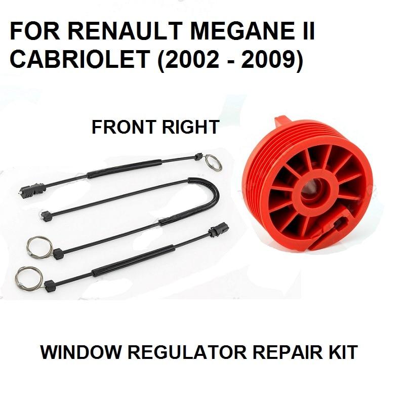 Electric Window Regulator Repair Kit For RENAULT MEGANE II Cabriolet Front RIGHT 2002-2009