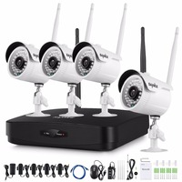 SANNCE Full HD 1080P 4CH Wireless NVR CCTV Security System 2 0MP IP Camera 1080P Wifi