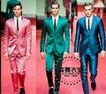 Gd Zhi - homens de modelos de passarela de esmeralda DJ clube do cantor trajes boate vestido noivo terno