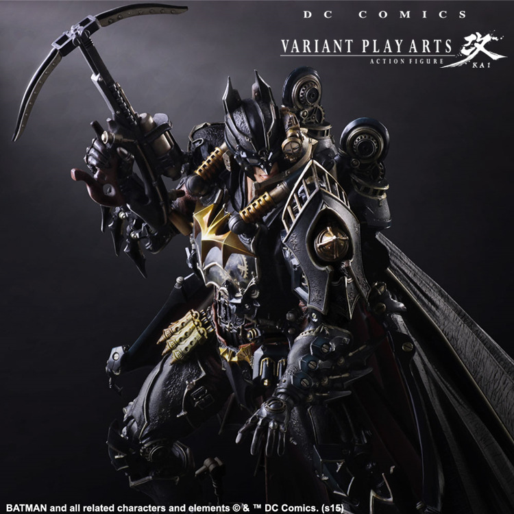 Batman Action Figures Play Arts Kai Steampunk PVC Toys 270mm Anime Movie Model Steampunk Bat Man Playarts Kai batman action figure play arts kai sparda pvc toys 270mm anime movie model sparda bat man playarts kai free shipping gc051