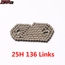 TDPRO 25H 136 Links Drive Chain Thin For Motorcycle 2 Stroke Pocket Dirt Bike Minimoto ATV Gas Scooter 43cc 47cc 49cc