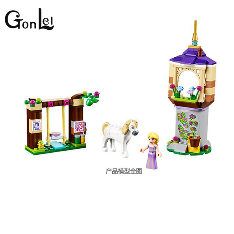 GonLeI Bela Girls Princess Series Rapunzel Castle Gardens Figures Building Blocks Bricks Toys For Children Lepin Friends new bela friends series girls princess jasmine exotic palacepanorama minifigures building blocks girl toys