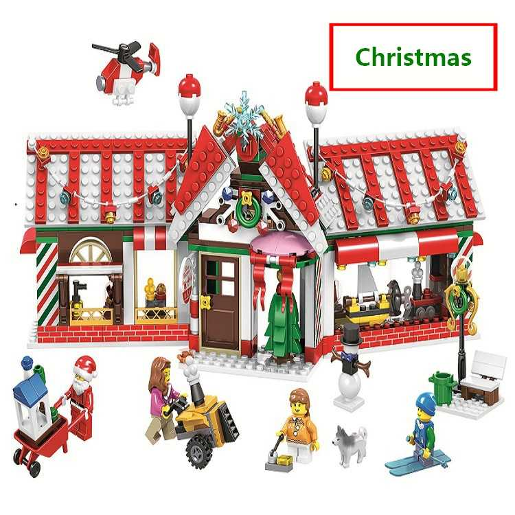 Lego Christmas Set 2019.2019 Christmas House Advent Calendar Santa Claus Snow Truck