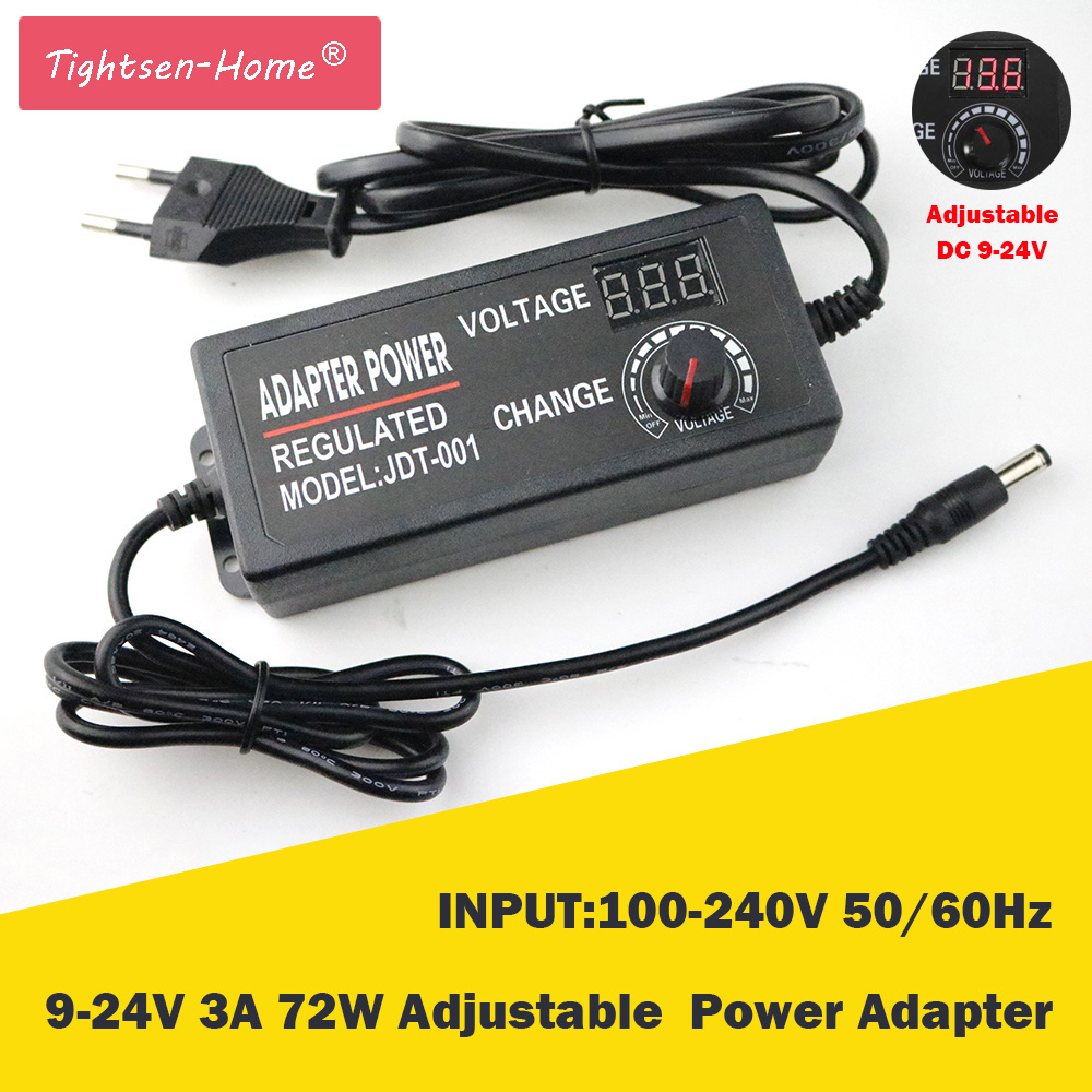 все цены на 9-24V 3A 72W adjustable power adapter AC/DC Adjustable Power Adapter Supply Regulated Power Adapter Supply Display EU/US Plug онлайн
