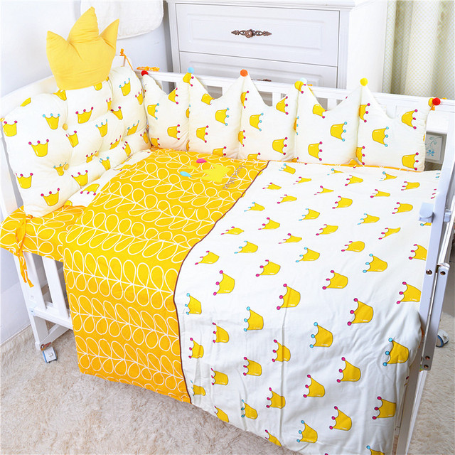 Nordic Style Baby Cotton Embroidered Bedding Set Bed Four Seasons  Baby Bedding Ten Sets Bed Bumper 4